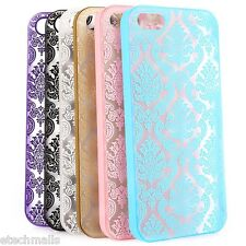 Flower Pattern Protective Phone Case Transparent Back Cover for iPhone 5S SE
