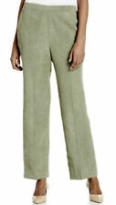 NWT Alfred Dunner Women's Green Solid Faux-Suede Pull-On Pants Size: 16