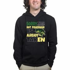 Hot Fisherman Funny Mens Fishing Sweatshirt Hoodie - Rod Tackle Bait Running