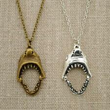 "SHARK NECKLACE 17"" Chain 1"" Small Pendant with Moving Jaws BRAND NEW Great White"