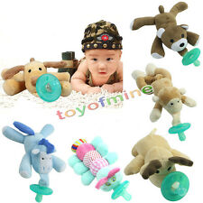 Infant Baby Toddler Child Plush Animal Dummy Grade Pacifiers Orthodontic Nipples
