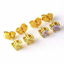 Fashion 18K Yellow Gold Filled crystal Crystal Womens Star Stud Earrings