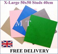 X-Large BASE PLATE 50 x 50 Studs L 40cm Compatible Construction Building Blocks