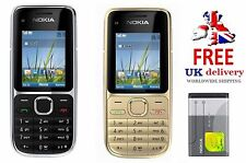 New condition C2-01 Nokia Gold & Black Unlocked Bluetooth Camera Easy Mobile
