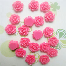 New 30pcs/lot 7 Colors Resin Rose Flower flatback Appliques For DIY phone/craft