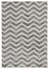 NEW Modern Chevron Design Rug Silver Floor Pattern Rug Carpet
