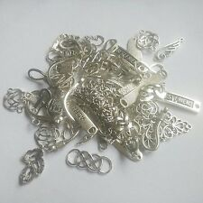 Wholesale Lots Antique Silver Mix Connector Charms Pendant DIY Jewelry Findings