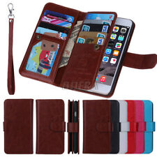 Luxury PU Leather Card Holder Wallet Bag Purse Case For iPhone Samsung HTC LG