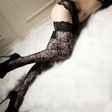 Sexy Sheer Lace Floral Thigh High Stockings Thigh Highs Hosiery Women Stay Up