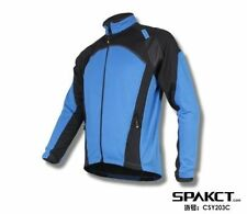 Spakct Cycling Bicycle Fleece Thermal Long Jersey Winter Jacket-Power 3 Blue New