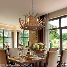 Rustic Rural Antler Chandelier Pendant 6 Lights Living Home Art Decor Lighting