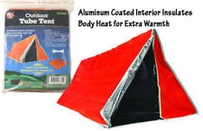 Orange Aluminum Coated Interior Emergency Tube Tent 82x36 ET3683