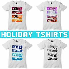 Girls Lads Holiday T Shirt Sunset Summer Tshirt Stag Hen Do PERSONALISED Tshirt