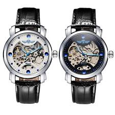 WINNER Unisex Waterproof Automatic Mechanical Rhinestone Analog Wristwatch V4T0