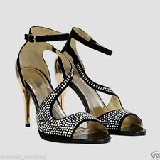 NEW WOMENS LADIES HIGH HEEL STRAPPY SANDALS CELEB OPEN TOE PARTY PROM SHOES SIZE