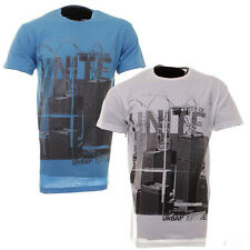 Mens Skyscraper Crew Neck Cargo Bay T-Shirt Tee Shirt Casual Top