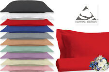 Oxford Pillow Cases 100 % Egyptian Cotton 200 Thread Count Hotel Quality