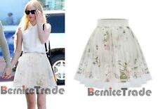 2016 Stock Newest Flower Short Party Skirts Womens Ladies Prom Skirt