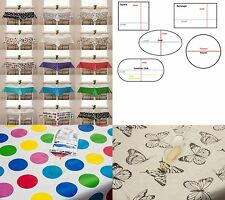 Wipe Clean Tablecloth Oilcloth Vinyl PVC All Designs, Colours & Sizes.