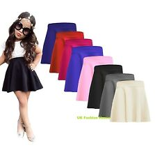 New Ladies Skirts Womens Belted Flared Plain Mini Skater Skirt Sizes UK 8-10