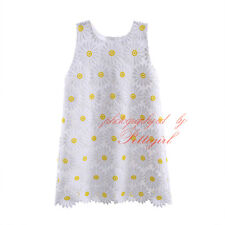 Kids Girls Daisy Princess Dress Summer Party Pageant Flower A-line Dresses NEW