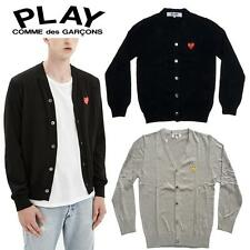 """NEW Cardigans CDG Comme des Garcons """"PLAY"""" Sweater coat Black Red Heart Overcoat"""