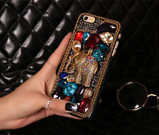 Bling Luxury Crystals Elephant Rhinestones Hard Case For Various Mobile Phone