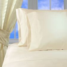 (IVORY SOLID) 1000TC COMPLETE BEDDING COLLECTION 100% EGYPTIAN COTTON ALL SIZE