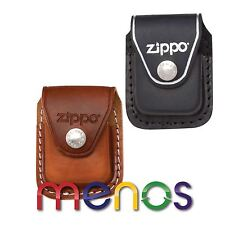 ZIPPO Genuine Leather Lighter Pouch Press Stud Clip or LOOP Brown Black