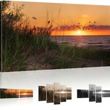 Art print Sunset picture on canvas Sea Mural Beach Canvas picture