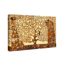 Tree of Life Klimt Art Print Painting Reproduction on Canvas Home Decor Framed