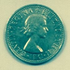 """""""Lucky"""" sixpence coin 1953-1967. Used in Christmas Pudding and Brides Shoe"""