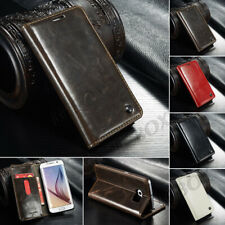 Faux Leather Folio Wallet Credit Card Slot Case Stand For Various Cell Phone