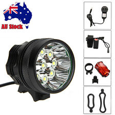 18000Lm 9x CREE T6 LED Bike Bicycle HeadLight Headlamp Torch 18650 Rear Light AU
