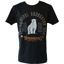*NEW* Men Black Cotton Bundaberg EST1888 Tee T-Shirt Size S M L XL 2XL 3XL