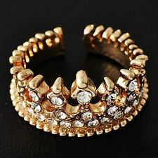fashion 14K Gold Filled Womens Imperial crown Promise Love Band Ring Size 5-10
