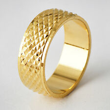 trendy Mens 14K gold filled Flake Knuckle Jewelry Band Ring Size 7 8 9 10