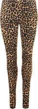 Womens Leopard Animal Print Ladies Stretch Full Length Leggings Pants 8-14Siizes