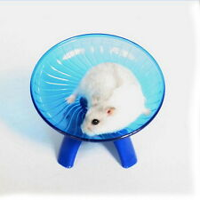 "Flying saucer exercise wheel hamster gerbil cage toy 6.5"" medium spinner pet  Q"
