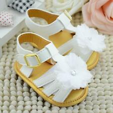 Baby Summer White Flower Sandals Infant Girl Soft Sole Princess Shoes Prewalker