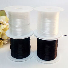 2pcs Elastic Stretchy Beading Thread Cord Bracelet String Jewelry Making 1mm