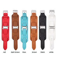 Genuine Leather Strap Cuff Bracelet Watch Bands For Apple Watch iwatch 38/42MM