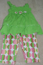 NWT GIRLS BABY HEADQUARTERS 2PC SET SIZE 12 & 18 MONTHS