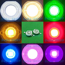 3W Full Spectrum UV Cold Warm White Blue Red Green Cyan Yellow Purple LED Light