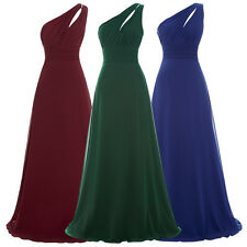 One Shoulder Bridesmaid Prom Dresses Formal Evening Party Long Maxi Ball Gown