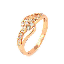 Cute Fashion Fewelry crystal Crystal 14K Rose Gold Filled Ladies Ring,SZ 6,7,8