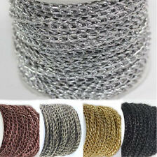 2/5/10M Gold Silver Bronze Open Ring Cable Aluminum Chain Finding Craft 6x4mm