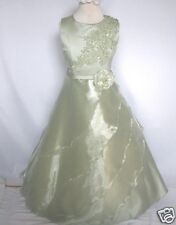 New Girl National Pageant Wedding Easter Formal Party Dress Sage size:10 12 14