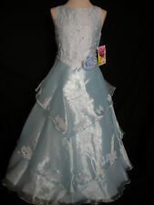 New Teen Girl Wedding Pageant Easter Formal Party Dress Lt. Blue size: 4 6 10 14