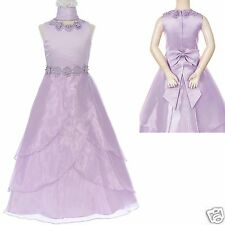 New Girl Pageant Wedding Easter Graduation Formal Dress sz 4 6 8 10 12 14 Lilac